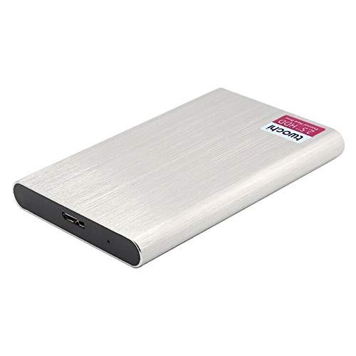 Lsmaa Disco duro portátil, múltiples opciones de capacidad, interfaz USB 3.0 estándar para una transmisión rápida y estable, adecuado para computadoras de escritorio (capacidad: 1 TB, color: plata)