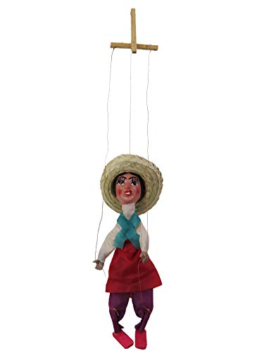 Leos Imports Mexican Puppet Marionette (Adelita)