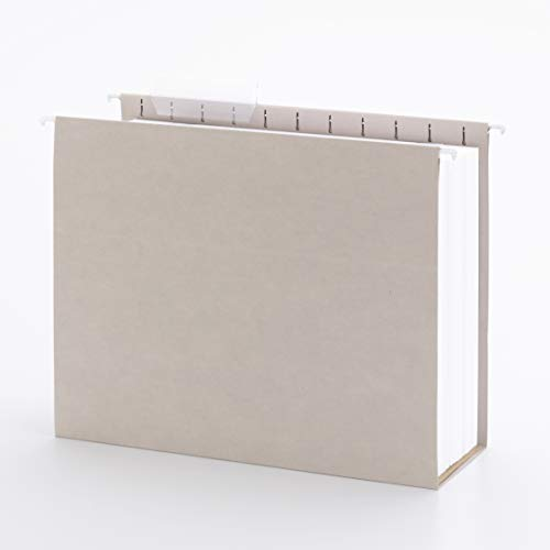 Smead Tuff Hanging Box Bottom Folder with Easy Slide Tab, 4' Expansion, 1/3-cut Sliding Tab, Letter Size, Steel Gray, 18 Per Box (64242)