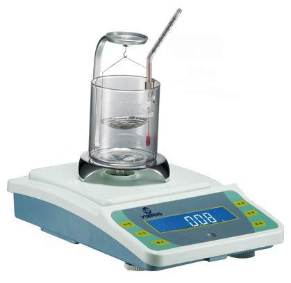 Hanchen Kit de Détermination de Densidad 0.01g Balanza de Densidad para Líquidos/Sólidos 100g/200g Báscula Electrónica de Precisión (100g/10mg)