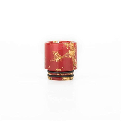 Lingketech Delrin Golden 810 Connector drip Screws tip Adaptor Wide Bore Accessory (USA Stock Arrive in 3-7 Days)-red