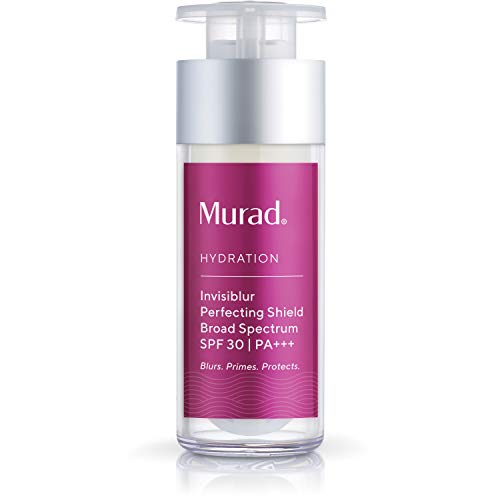 Murad Hydration Invisiblur Perfecting Shield, 3-In-1 Skin Primer for Face - Broad Spectrum SPF 30 | Blurs, Primes and Protects - Skin Care Beauty Product for Longer Lasting Makeup, 1.0 Fl Oz