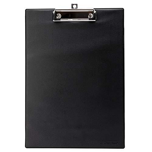10 Stück Klemmbretter A4 hoch OFFICE POINT | mit Folienüberzug | Clipboard mit Aufhängöse (schwarz, 10)