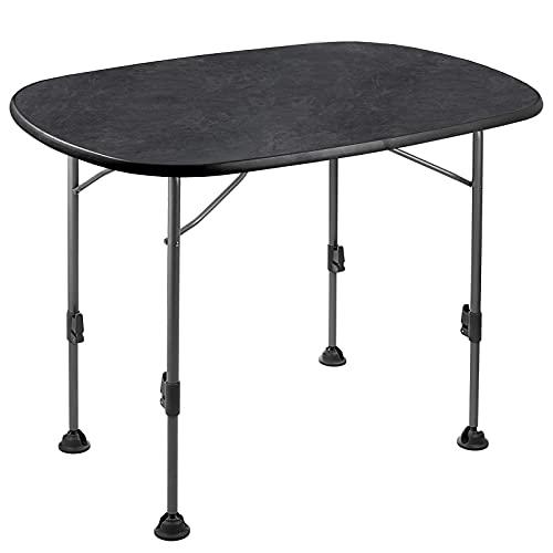 BRUNNER Klapptisch Linear Black 130 Camping Tisch Falttisch Höhenverstellbar XL