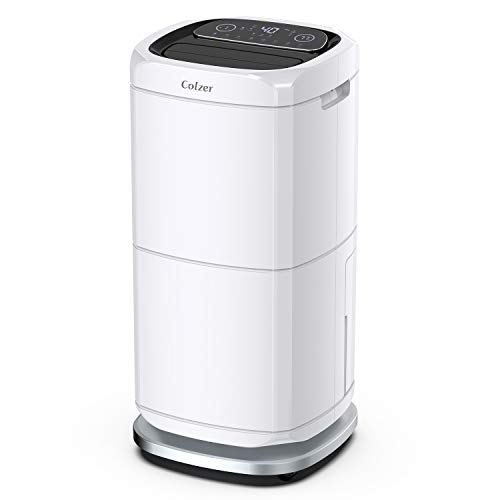 COLZER 140 Pints Commercial Dehumidifier 17 Gallons Large Capacity Dehumidifiers for Basements, Showrooms, Gallery, Storage Rooms, Warehouse, with 17-Pint Water Tank and 6.6 ft. Drain Hose