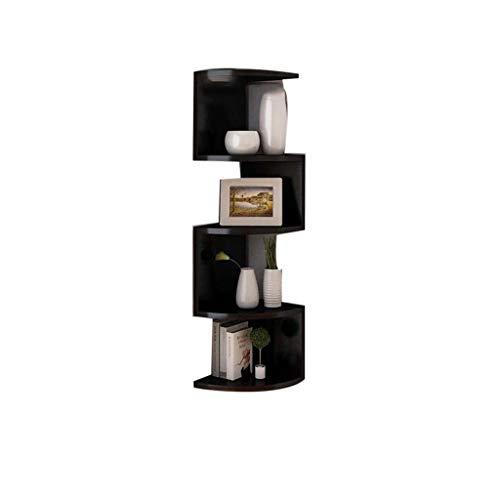 Wandrahmen QFF@ Eckregalboden Mehrschichtiges Lagerregalregal, Einfache Multifunktionswand HäNgende Dekorative EckwandhäNgende Trennwand - Holzplatte