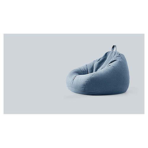 APcjerp - Funda de puf grande para sillón, sofá, dormitorio, pequeño balcón de tela, reclinable para uso en casa o jardín, color azul Hslywan (color: azul)