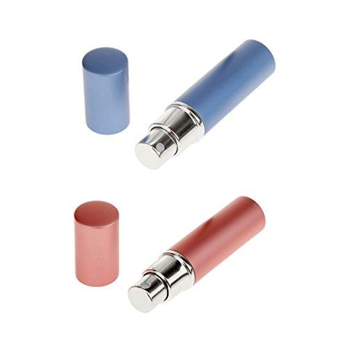 Sharplace 2pcs Mini Flacons Pompe de Parfum Rechargeable Atomiseur Bouteille pour Salon
