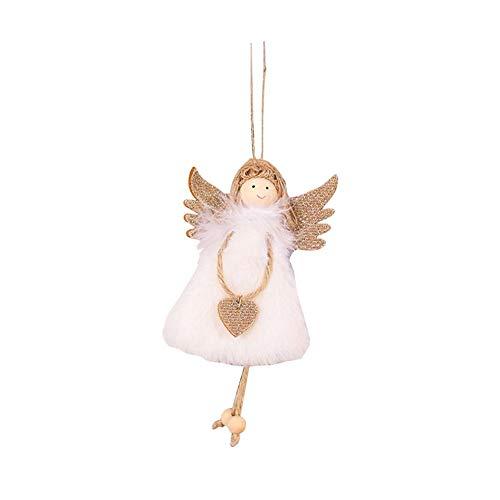 Colgante de ángel de Navidad con diseño de ángel de Navidad, diseño de ángel de amor, alas de oro para hija, adornos de árbol de Navidad, nuevas decoraciones de Navidad