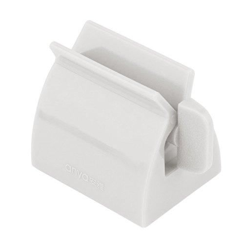 VANKER 2 en 1 Exprimidor de Tubo de Pasta de Accesorios de baño Titular de Cepillo de Dientes - Blanco