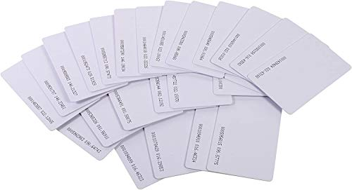 Gialer 100pcs Contactless 125kHz RFID Proximity Cards Smart ID Card 0.8mm Thick for Access Control System & Time Attandance & Door Entry Access