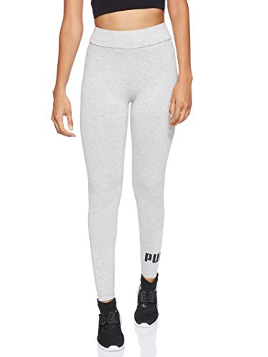 PUMA Damen ESS Logo Leggings Hose, Light Gray Heather, L