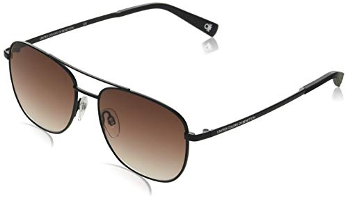 Benetton Sunglasses Herren BE7012 Sonnenbrille, Matt Black, 55/16-145