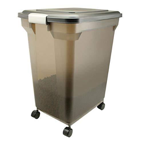 Cheap IRIS Premium Airtight Pet Food Storage Container, 22-Pounds,  Smoke