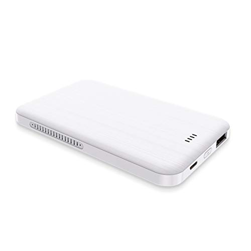 Tarjeta magnética móvil banco de energía 4000 mAh, grosor 12 mm, cargador externo portátil de carga rápida, compatible con iPhone, Huawei, Samsung Smart Phones (color: blanco)