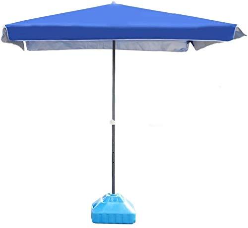 Sombrillas de patio al aire libre Sombrillas azules rectangulares paraguas de patio al aire libre perfecto para jardín, patio, playa evento comercial Ma(net)