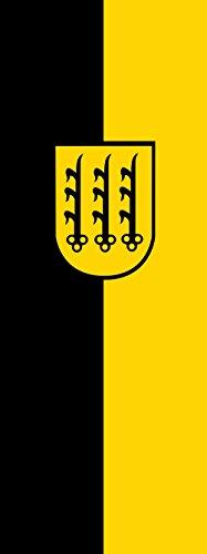 magFlags Drapeau Crailsheim | Portrait Flag | 6m² | 400x150cm