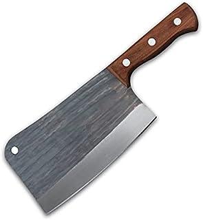 Couteau à cheval forgé à la main Haute-carbone Clafe de cuisine chinoise Clean Couteaux de cuisine Chopper Slicing Nakiri ...