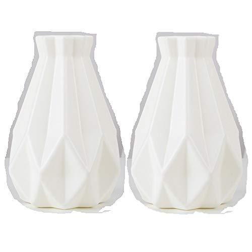 TOPmountain Jarrón de plástico con Aspecto de cerámica, jarrón irrompible para Flores,...