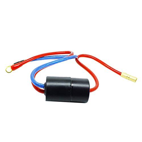 B Blesiya Nuevo Filtro de Supresión de Ruido de Motor en Línea de 40 Amperios, 12 V, Negro