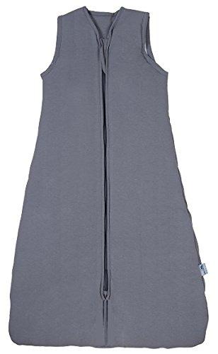 Schlummersack Kinderschlafsack für den Sommer in 1.0 Tog - Anthrazit - 6-10 Jahre / 150 cm