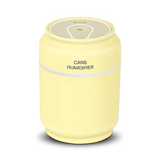 200 ml Mini Humidificador Ultrasónico Latas Humidificador con Diseño de Respiración Luz Nocturna Ventilador Doble Anti-Dirt Cover