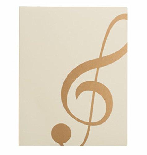 ナカノ ミュージックレッスンファイル ト音記号 アイボリーゴールド FL-95/GC/IVG