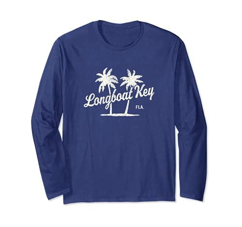 ロングボートキー フロリダヴィンテージ 70年代 ヤシの木 グラフィック 長袖Tシャツ