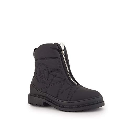 LIU JO Zapatos Mujeres Botas Alison 01 Booty Nylon Black Pieles Interiores Nuevo