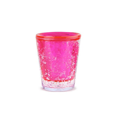 Thumbs Up! Freezer Shot Glasses Set da 3 Bicchierini Shot Congelabili, Plastica, Multicolore
