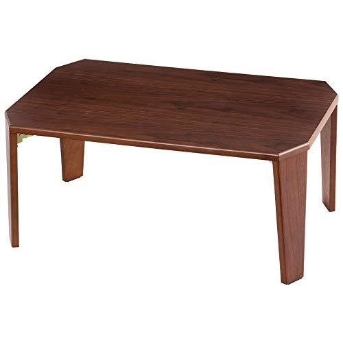 アイリスプラザ テーブル センターテーブル 折りたたみ 折れ脚センターテーブル 単身 一人暮らし おしゃれ ブラウン OCTM-75 75×50×33cm