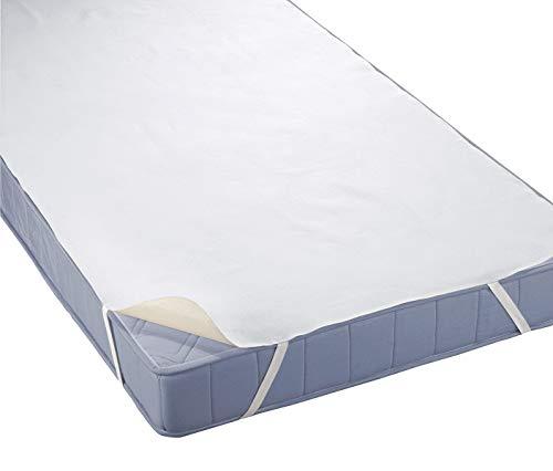 Biberna 808315-001-143 Coprimaterasso impermeabile a mollettoni 90x190 cm colore: Bianco