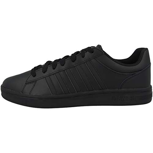 K-Swiss Mens Court Winston Sneaker, Black/Black/Black, 41.5 EU