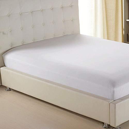 KIrSv Funda de colchón de sábana Ajustable de Color sólido con sábana de Banda de Goma elástica en Todos los Lados para Twin Full Queen King Single Double Size-F_120x200cm + 30cm