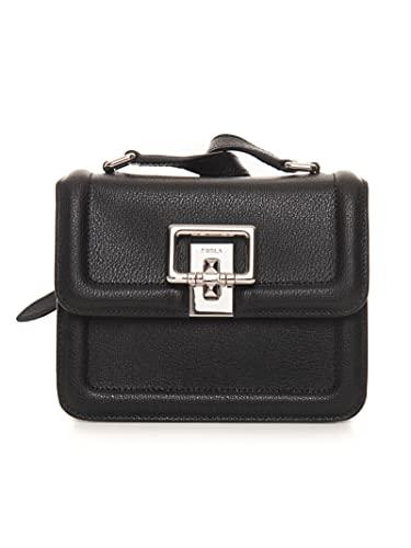 Furla Tasche aus Leder, klein, Schwarz, Leder und Damen, Schwarz , Taglia unica,