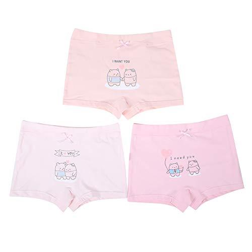 3-pak baby meisjes ondergoed kinderen broekjes kleine kinderen mooie katoenen slips teens multipack boyshorts Undies Small beer