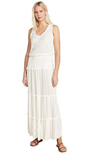 Poupette St Barth Women's JENA Paneled Dress, White, Large