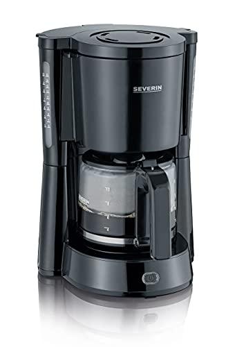 SEVERIN KA 4815 Type Kaffeemaschine (Für gemahlenen Filterkaffee, 10 Tassen, Inkl. Glaskanne) schwarz