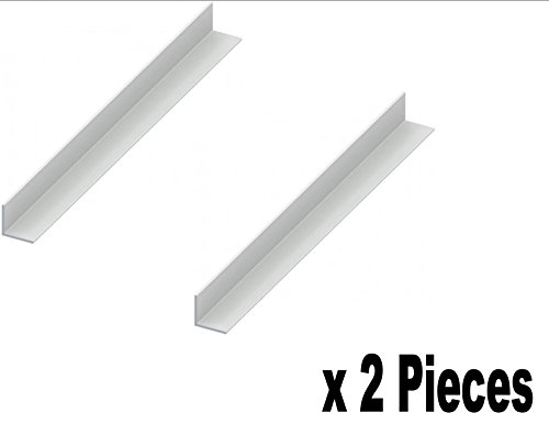 Innovo 2 Longitudes 300 mm PVC Blanco Esquina ángulo Trim 70 mm x 70 mm Blanco plástico Trim 90 Grados
