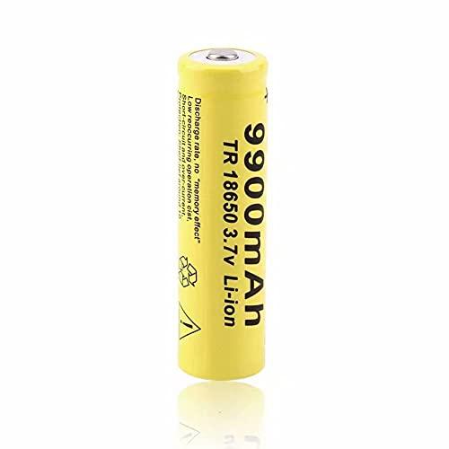 2 Pilas 18650 de 3,7 V Recargables 2600 mAh de Gran Capacidad de Iones de Litio 18650 Baterías Recargables Pilas para Linterna LED, Dispositivos Electrónicos(Cabeza Plana)