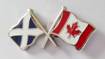 1000 Flags Freundschaftsanstecker mit Kanada-Flagge und Schottland-Flagge