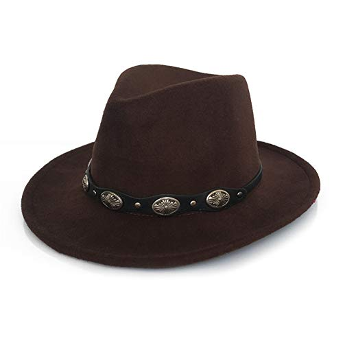 XINTD Sombrero de Vaquero para Mujer, Estilo Vintage de 57-58 cm, Somb