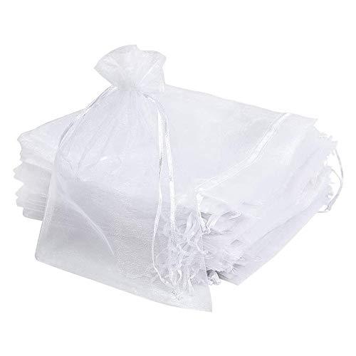 Mu Mianhua - Lote de 60 bolsas de organza para regalo de cumpleaños, boda, fiesta, embalaje de 20 x 30 cm