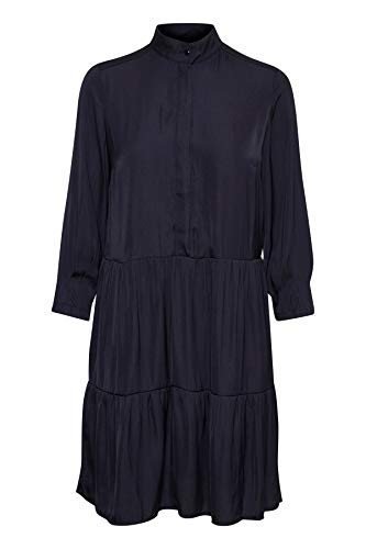 GESTUZ Damen Mesula Dress Kleid, Blau (Deep Well 90128), 36
