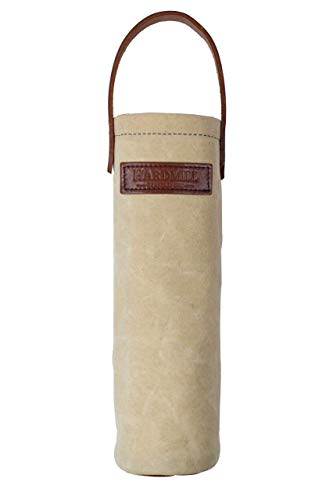 Wine Tote - Waxed Canvas - Natural - Made in USA