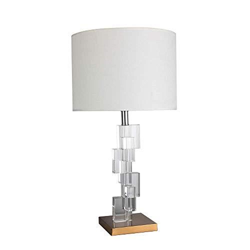 CENPEN Lámpara de mesa, lámpara de mesa de cristal, lámpara de mesa creativa para sala de estar, dormitorio, iluminación para el hogar, lámpara de mesa de gran tamaño (E27 tornillo puerto) elegante