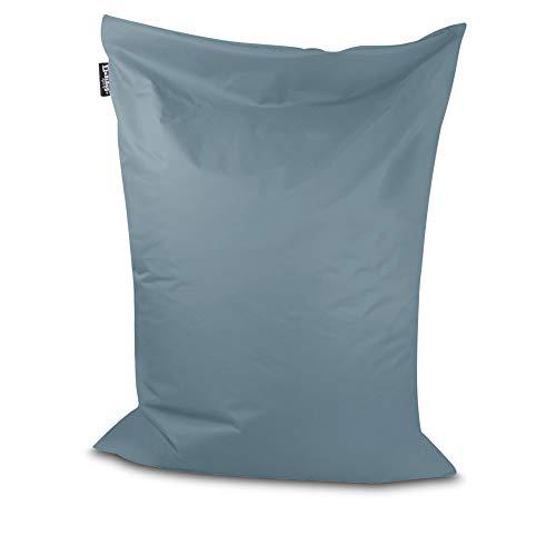 Sitzsack Bodenkissen Indoor Outdoor Riesensitzsack Größen & Farben wählbar Kinder Bean Bag Erwachsene Wasserabweisend Schmutzabweisend (Grau-100x70 cm)