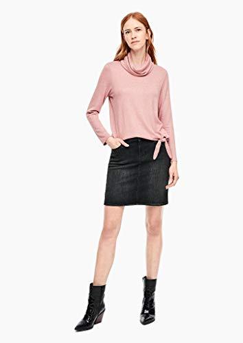 s.Oliver 14.911.79.3769 Falda, Gris (Grey Denim Stretch 98z5), 38 (Talla del Fabricante: 36) para Mujer