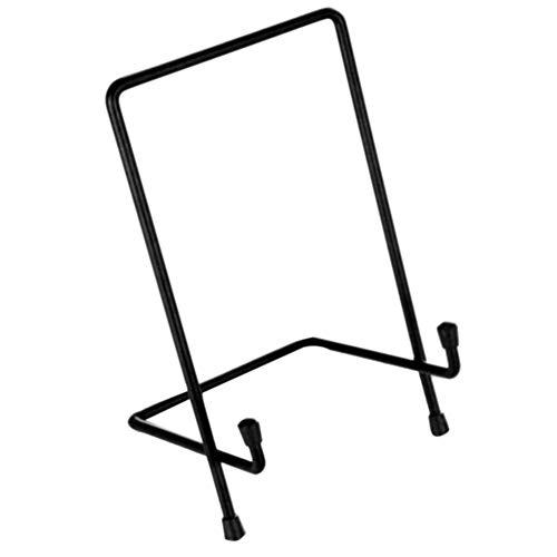 NANAD Square Wire Stand Plate Art Photo Holder, Picture Frames Easel Plate Bowl Kookboeken Schotel Display Stand voor het houden van tafel kaarten, visitekaartjes, Mobiele telefoon etc