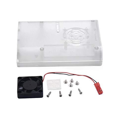 KEYESTUDIO Components Raspberry Pi 4 Modell 4B mit Lüfter Clear Case Schutzhülle für Raspberry Pi